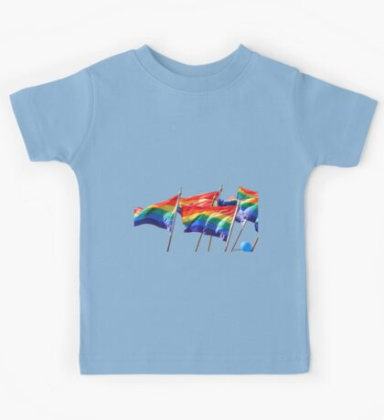 Gaypride flags Kids Tee