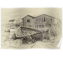 Peggy's Cove - sepia Poster