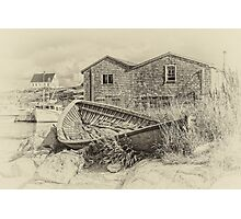 Peggy's Cove - sepia Photographic Print