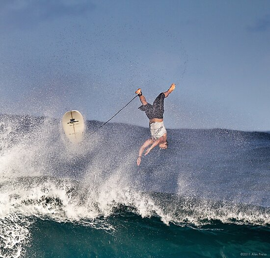 Surfer At Banzai Pipeline 2011.4 by Alex Preiss