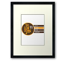 The Low Down 91.1 Framed Print