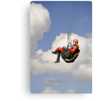 Paraglider Close-up, Above Mam Tor  Canvas Print