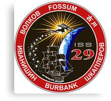 Expedition 29 Mission Patch Canvas Print