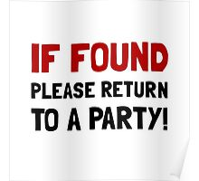 Return To Party Poster