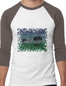 Lonely Park-Bubblefied. Men's Baseball ¾ T-Shirt