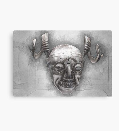 Henry VIII's horned helmet Canvas Print