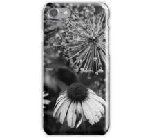 Coneflower in Dow Gardens BW iPhone Case/Skin