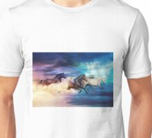 herd of horses in pastel Unisex T-Shirt