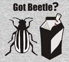 Got Beetle ? Black Text ( Clothing & Sticker) One Piece - Short Sleeve