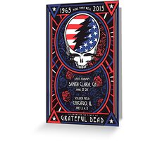 Grateful Dead at Levis Stadium, Santa Clara (50 Years) Greeting Card