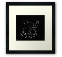 BJJ women - black & white - sales but with a bit of arm triangle thrown in! Framed Print