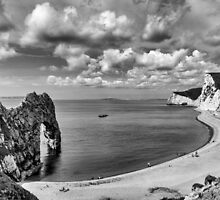 Durdle Door Black and White by Chris Thaxter