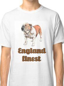 dog english bulldog pets animal england urban Classic T-Shirt