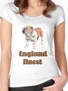 dog english bulldog pets animal england urban Women's Fitted Scoop T-Shirt