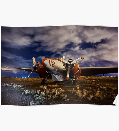 Abandoned Airplane Poster