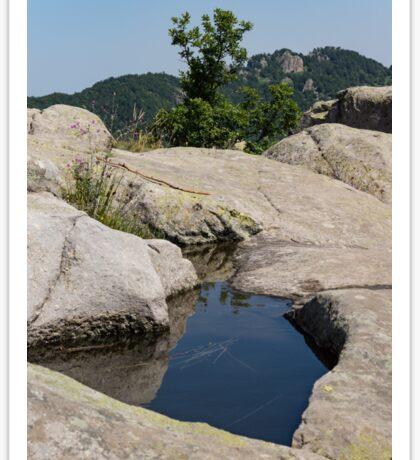 Ancient Thracian Reservoir at Belintash  Sticker