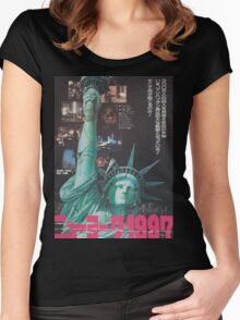Escape From New York Japan Poster Women's Fitted Scoop T-Shirt