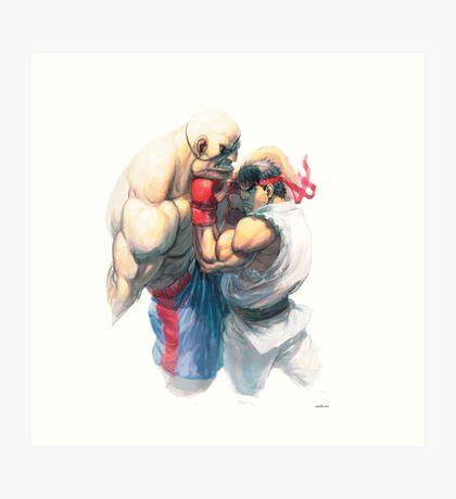 Street Fighter #1 - Sagat vs Ryu Art Print
