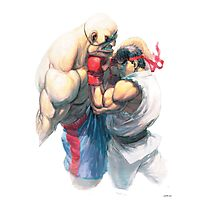 Street Fighter #1 - Sagat vs Ryu Photographic Print