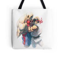 Street Fighter #1 - Sagat vs Ryu Tote Bag