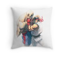 Street Fighter #1 - Sagat vs Ryu Throw Pillow