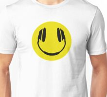 Smiley Headphone Face Unisex T-Shirt
