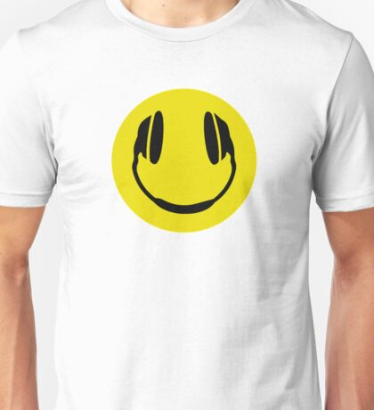 Smiley Headphone Face Unisex T-Shirt