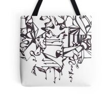 Psychedelic Twisted Lines Tote Bag