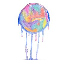 Crying colors Photographic Print