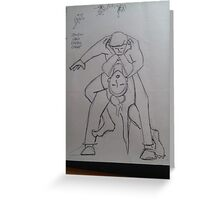 BJJ women tango choke technical Greeting Card