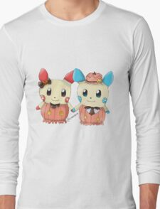 Halloween Plusle And Minun Long Sleeve T-Shirt
