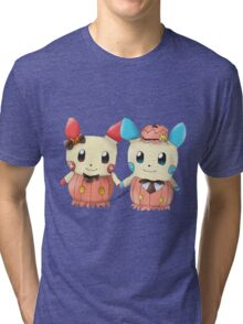 Halloween Plusle And Minun Tri-blend T-Shirt