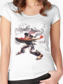 Street Fighter #2 - Ryu Women's Fitted Scoop T-Shirt