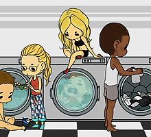 Team Arrow Goes: Laundromat  by TheKeyThief
