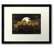 Court of Jack-o-lanterns Framed Print