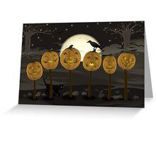 Court of Jack-o-lanterns Greeting Card
