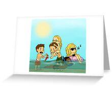 Team Arrow Goes: Beach! Greeting Card