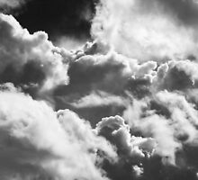 Black And white Sky With Building Storm Clouds by KWJphotoart