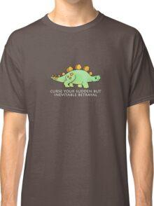 Firefly Wash's stegosaurus quote. (darker backgrounds) Classic T-Shirt