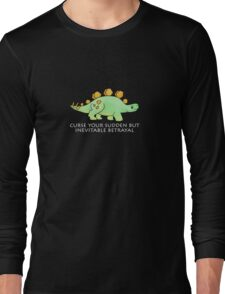 Firefly Wash's stegosaurus quote. (darker backgrounds) Long Sleeve T-Shirt