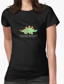 Firefly Wash's stegosaurus quote. (darker backgrounds) Womens Fitted T-Shirt