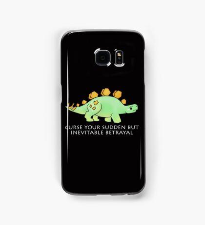Firefly Wash's stegosaurus quote. (darker backgrounds) Samsung Galaxy Case/Skin