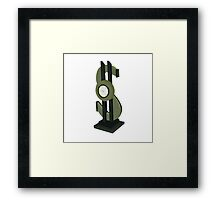 Time Is Money Framed Print