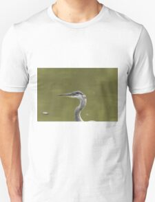 Profile of a Great Blue Heron Unisex T-Shirt