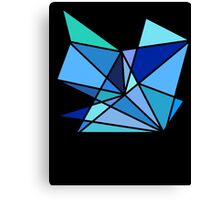 blue and green geometric triangle pattern Canvas Print