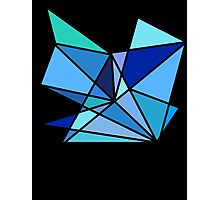 blue and green geometric triangle pattern Photographic Print