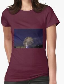 Fireworks over a river Womens Fitted T-Shirt