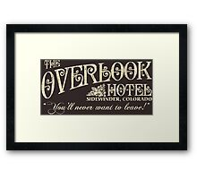 The Shining Overlook Hotel Framed Print