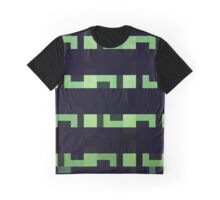 Abstraction #118 Green Black Rectangles Blocks Graphic T-Shirt