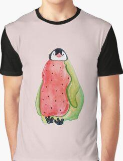 Watermelon Penguin Graphic T-Shirt